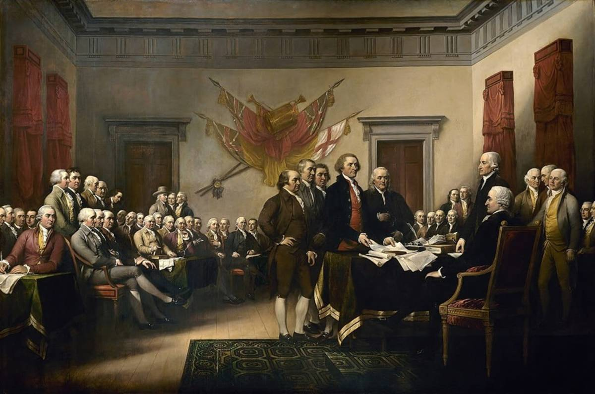 《The Declaration of Independence 獨立宣言》藝術家:John trumbull /1818